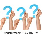 some blue question marks... | Shutterstock . vector #137187224
