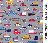 children's vector seamless... | Shutterstock .eps vector #1371877901