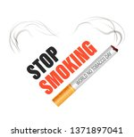 cigarette stop isolated icon... | Shutterstock .eps vector #1371897041