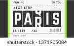 paris typography slogan airline ... | Shutterstock .eps vector #1371905084