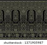 seamless dark victorian border | Shutterstock . vector #1371905987