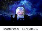 planet x over stonehenge | Shutterstock . vector #1371906017