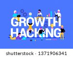 background with growth hacking... | Shutterstock .eps vector #1371906341
