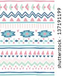 seamless ethnic vector pattern... | Shutterstock .eps vector #137191199