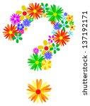 Floral Question Mark