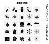 christmas solid glyph icon for...
