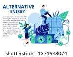 alternative energy concept in... | Shutterstock .eps vector #1371948074