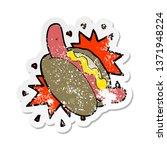 retro distressed sticker of a...   Shutterstock . vector #1371948224