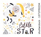 poster with sheep  stars and... | Shutterstock .eps vector #1371950234