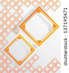 orange vector frame on bright... | Shutterstock .eps vector #137195471