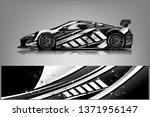 car decal wrap design vector.... | Shutterstock .eps vector #1371956147
