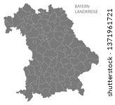 modern map   bavaria map of... | Shutterstock . vector #1371961721