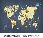 3d wallpaper design with a... | Shutterstock . vector #1371998714