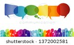 large isolated group people in... | Shutterstock . vector #1372002581