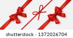 bow set isolated on transparent ...   Shutterstock .eps vector #1372026704