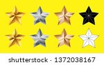set of stars shape collection ... | Shutterstock .eps vector #1372038167