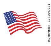 american waving flag vector... | Shutterstock .eps vector #1372047371