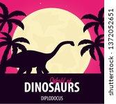 banner world of dinosaurs....   Shutterstock .eps vector #1372052651