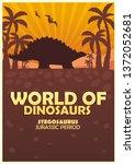 poster world of dinosaurs....   Shutterstock .eps vector #1372052681