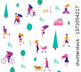 different activities of people...   Shutterstock .eps vector #1372054217