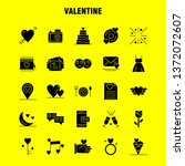 valentine solid glyph icons set ...