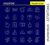 valentine hand drawn icon pack... | Shutterstock .eps vector #1372072661