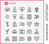 valentine line icon pack for... | Shutterstock .eps vector #1372072667