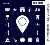 beach solid glyph icon for web  ...