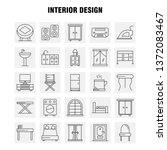 interior design line icons set... | Shutterstock .eps vector #1372083467