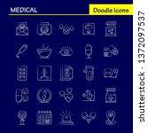 medical hand drawn icons set...