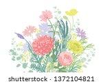gorgeous colorful bouquet   Shutterstock .eps vector #1372104821