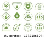 cannabidiol badge design set... | Shutterstock .eps vector #1372106804