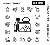 business concepts line icons... | Shutterstock .eps vector #1372109894