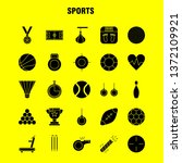 sports  solid glyph icons set...