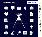 communication solid glyph icons ...