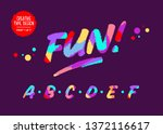 vector colourful alphabet. kids ... | Shutterstock .eps vector #1372116617