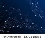 gometric plexus structure...   Shutterstock .eps vector #1372118081