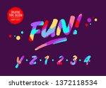 vector type design with neon... | Shutterstock .eps vector #1372118534
