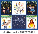 set of festa junina designs... | Shutterstock .eps vector #1372121321