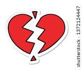 sticker of a cute cartoon...   Shutterstock . vector #1372124447
