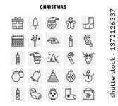 christmas line icons set for...