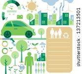 infographic elements eco car | Shutterstock .eps vector #137213501