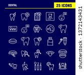 dental line icons set for... | Shutterstock .eps vector #1372143431