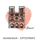 notre dame de paris cathedral ...   Shutterstock .eps vector #1372155641
