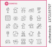 cosmetics line icons set for...