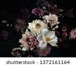 Vintage Floral Card. Garden...