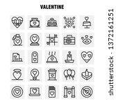 valentine line icons set for...