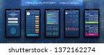 online banking cryptocurrency...   Shutterstock . vector #1372162274