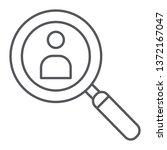 person search thin line icon ... | Shutterstock .eps vector #1372167047
