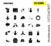 christmas solid glyph icons set ... | Shutterstock .eps vector #1372167857